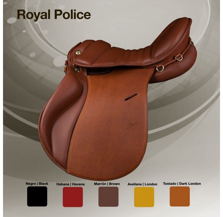 Selle cheval Zaldi Royal police couleurs