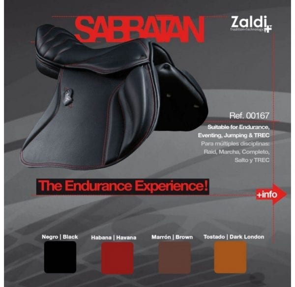 selle de cheval endurance Zaldi Sabbatan couleur