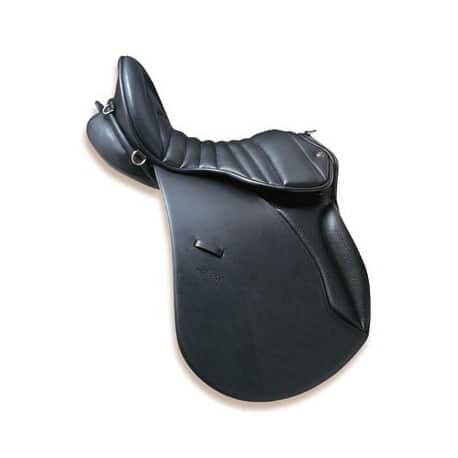 Selle cheval randonnée Zaldi Country cuir noir