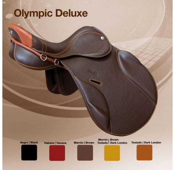 selle de cheval mixte Zaldi Olympic Deluxe couleurs
