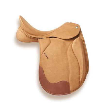 selle de cheval dressage Zaldi Hannover cuir creme