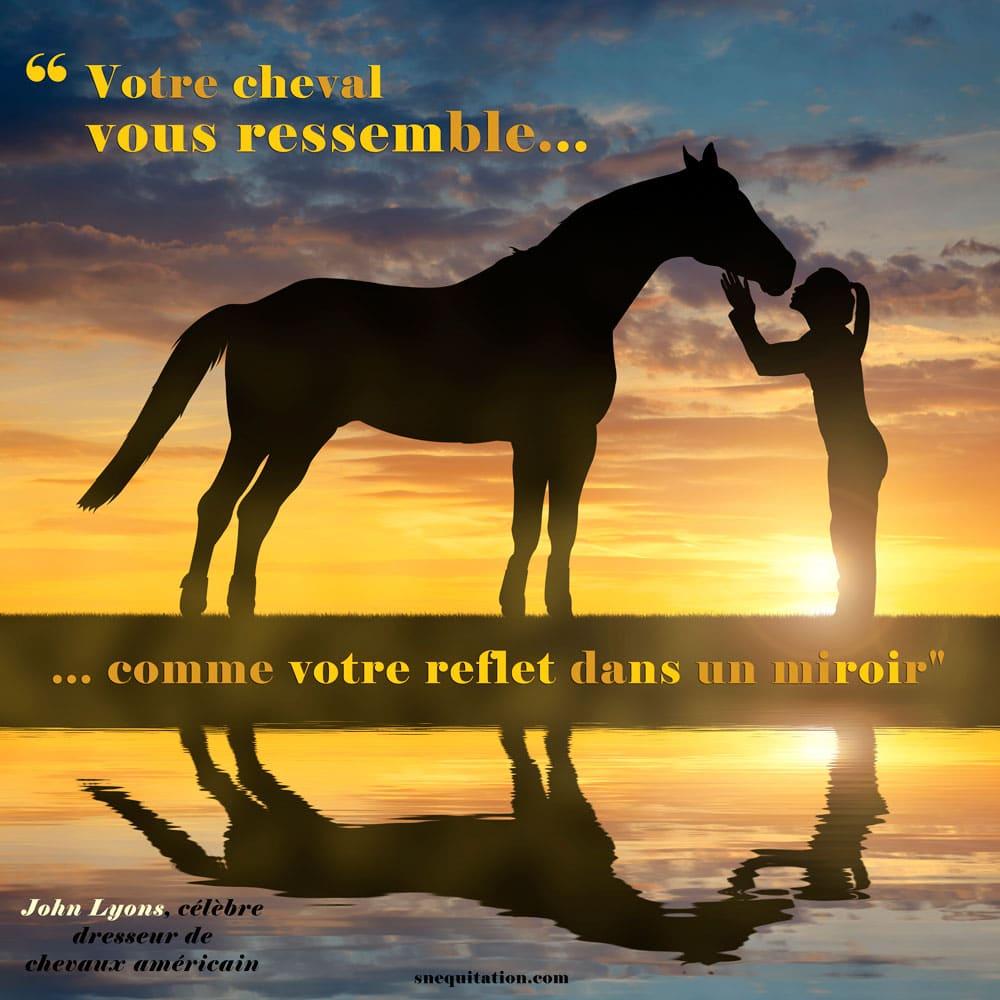 """""""Votre cheval vous ressemble comme votre reflet dans un miroir"""""""